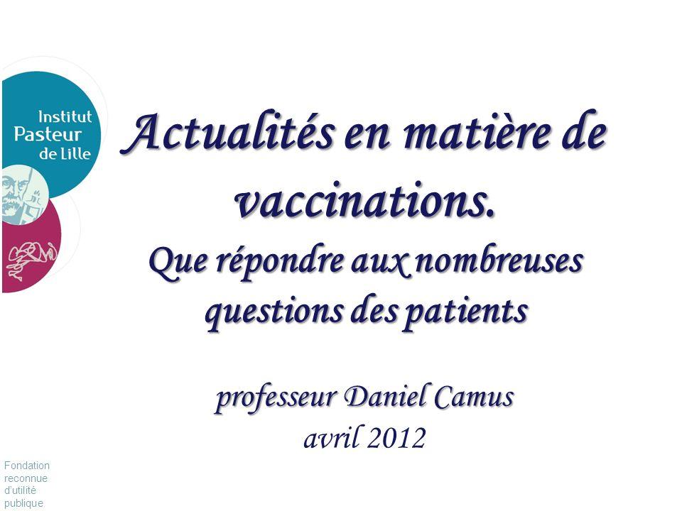 Actualités en matière de vaccinations