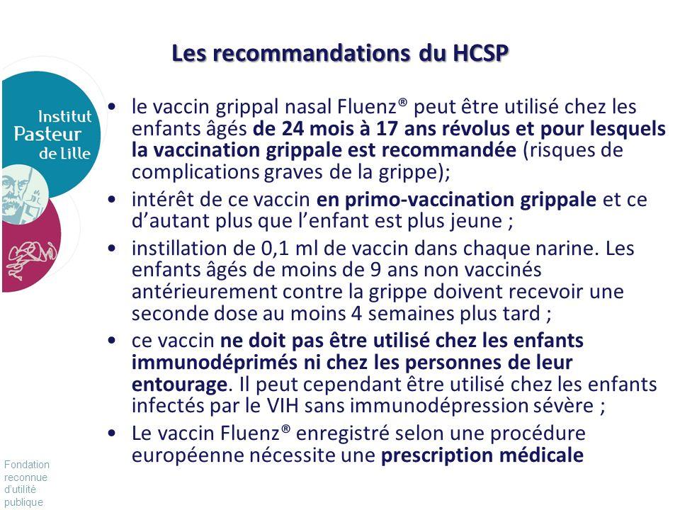 Les recommandations du HCSP