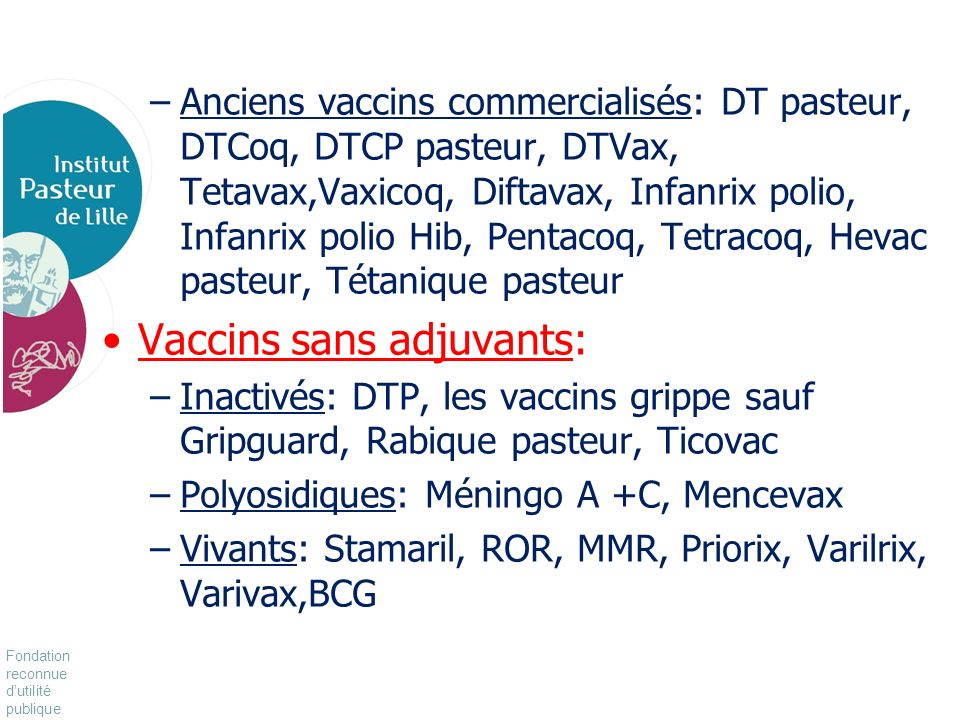 Vaccins sans adjuvants: