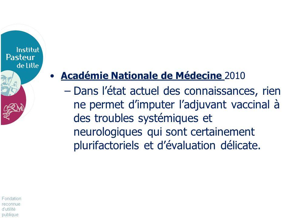 Académie Nationale de Médecine 2010