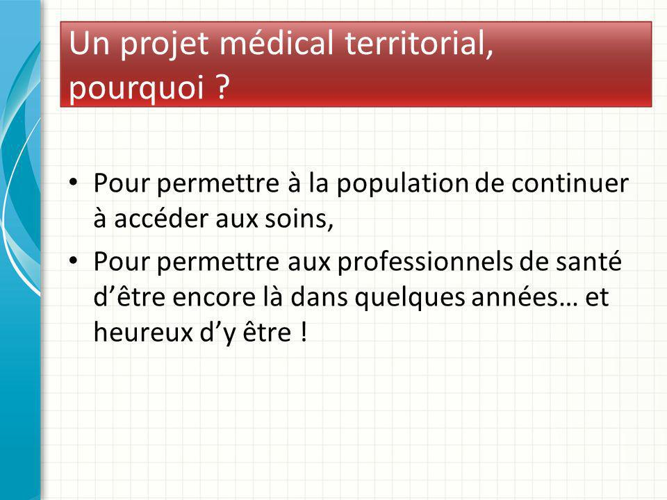 Un projet médical territorial, pourquoi