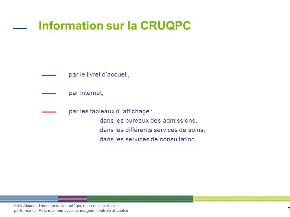 Information sur la CRUQPC