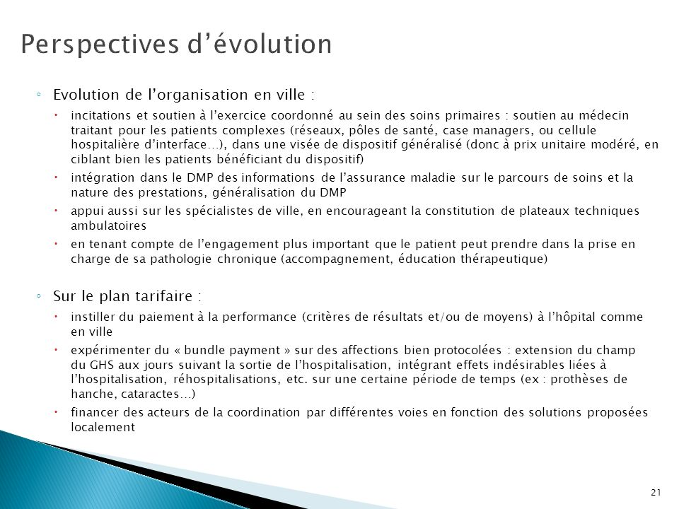 Perspectives d'évolution
