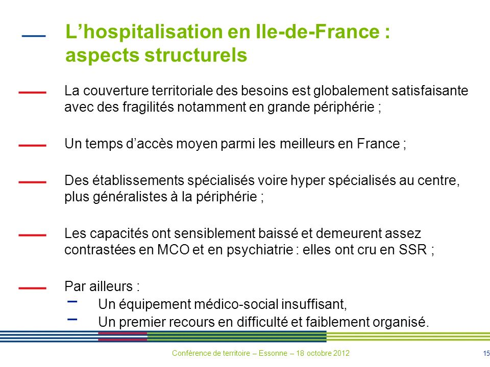 L'hospitalisation en Ile-de-France : aspects structurels