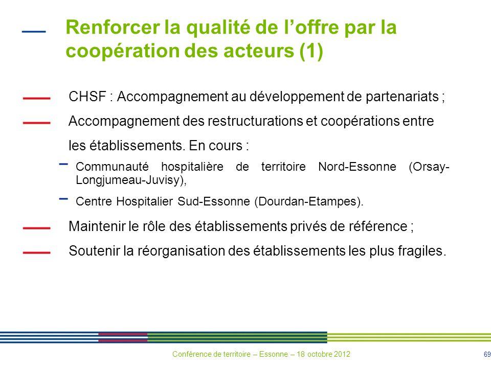Renforcer la qualité de l'offre par la coopération des acteurs (1)