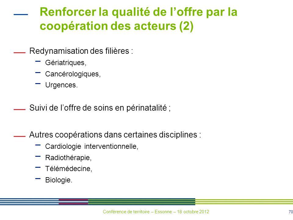 Renforcer la qualité de l'offre par la coopération des acteurs (2)