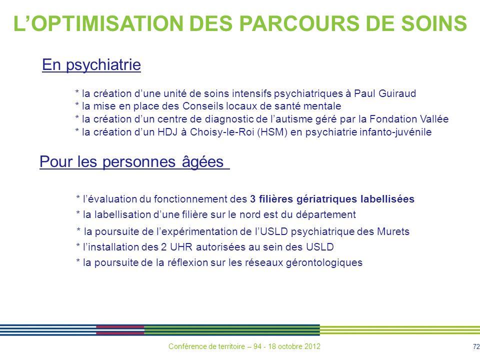 L'OPTIMISATION DES PARCOURS DE SOINS