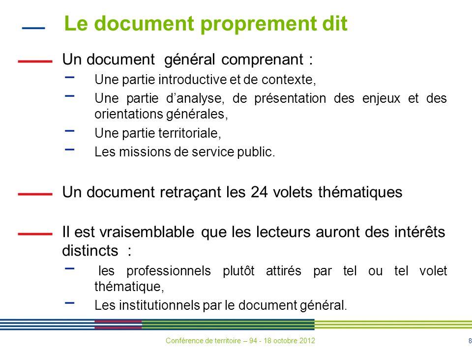 Le document proprement dit
