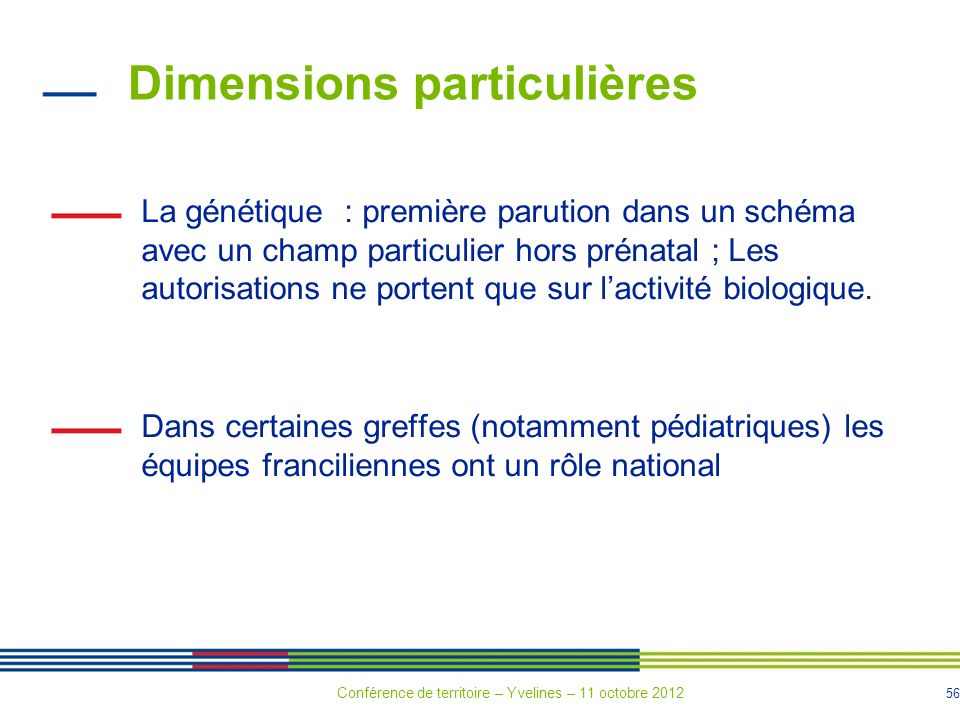 Dimensions particulières