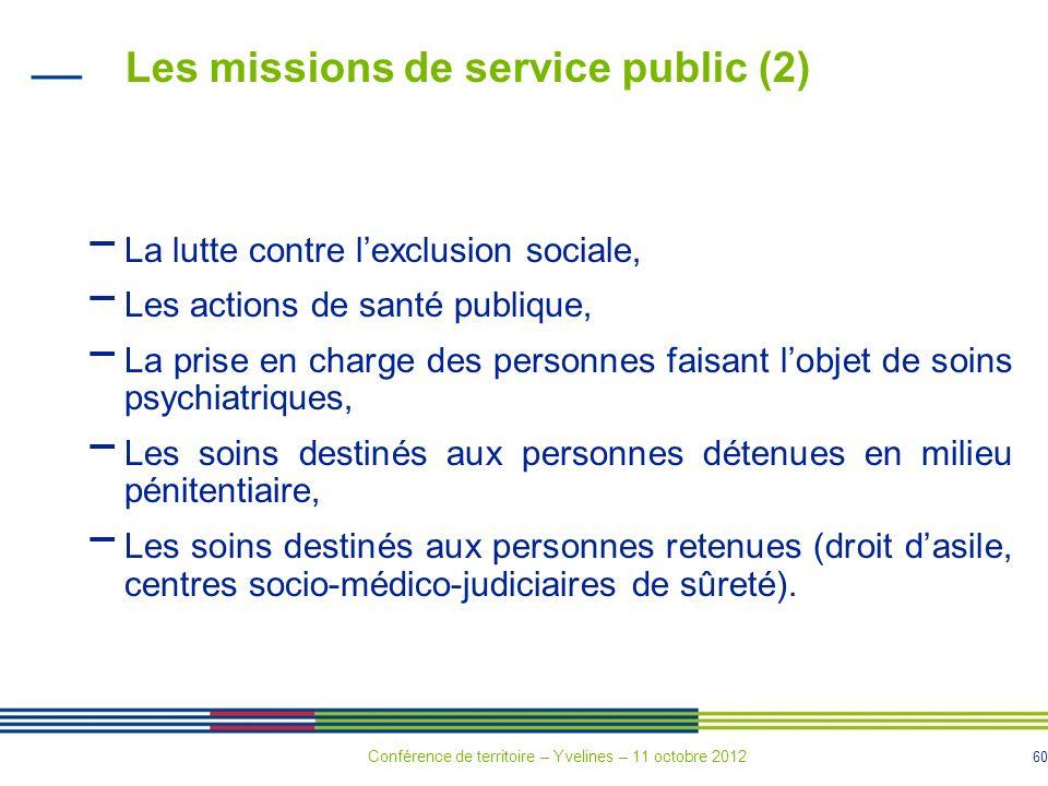 Les missions de service public (2)