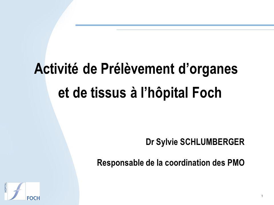 Activité de Prélèvement d'organes et de tissus à l'hôpital Foch