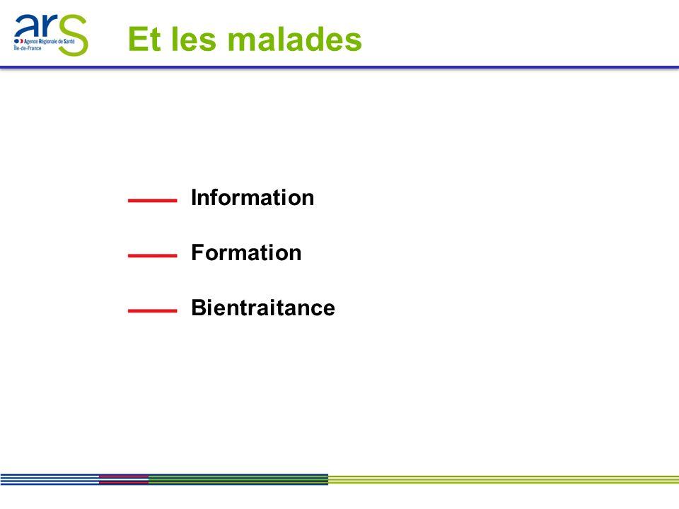 Et les malades Information Formation Bientraitance
