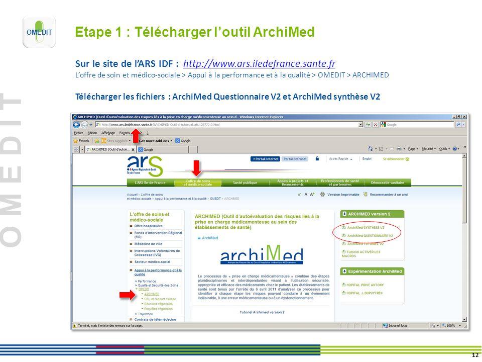 Etape 1 : Télécharger l'outil ArchiMed