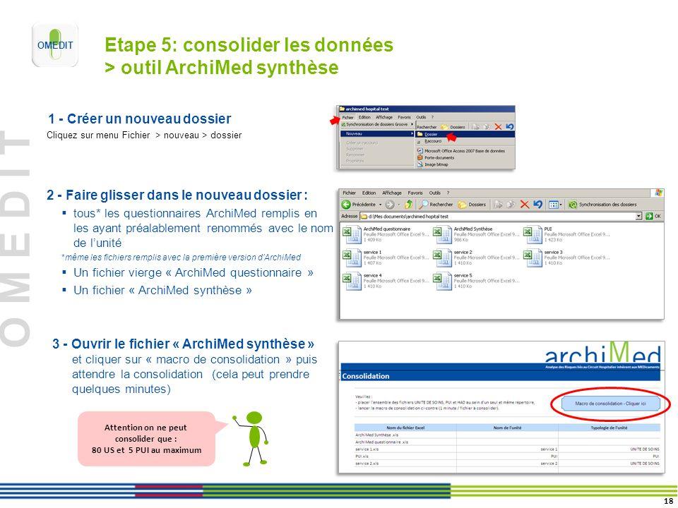 Etape 5: consolider les données > outil ArchiMed synthèse