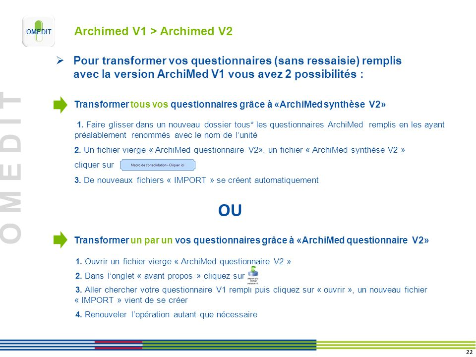 Archimed V1 > Archimed V2
