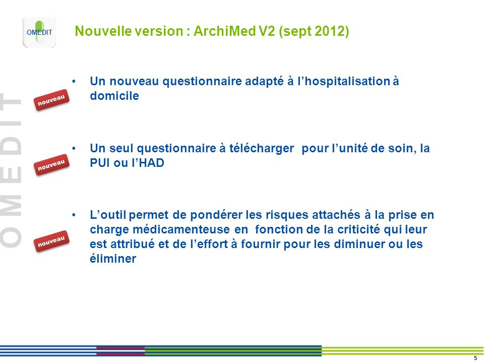 Nouvelle version : ArchiMed V2 (sept 2012)