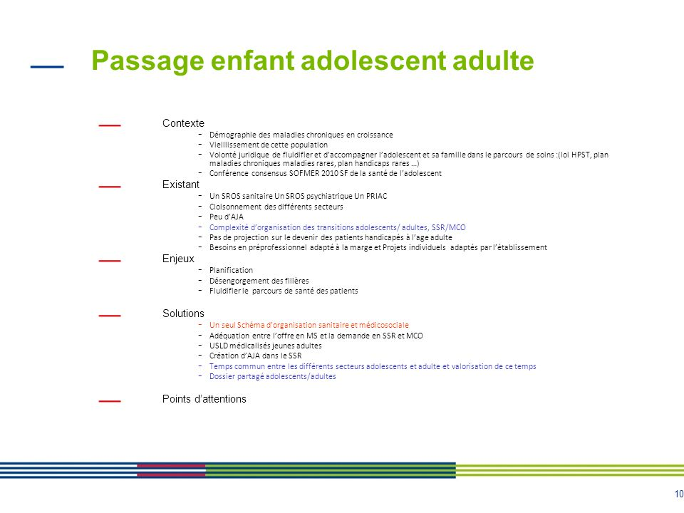 Passage enfant adolescent adulte