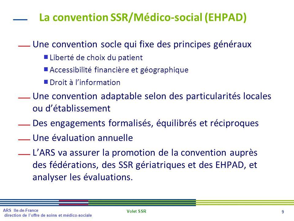 La convention SSR/Médico-social (EHPAD)