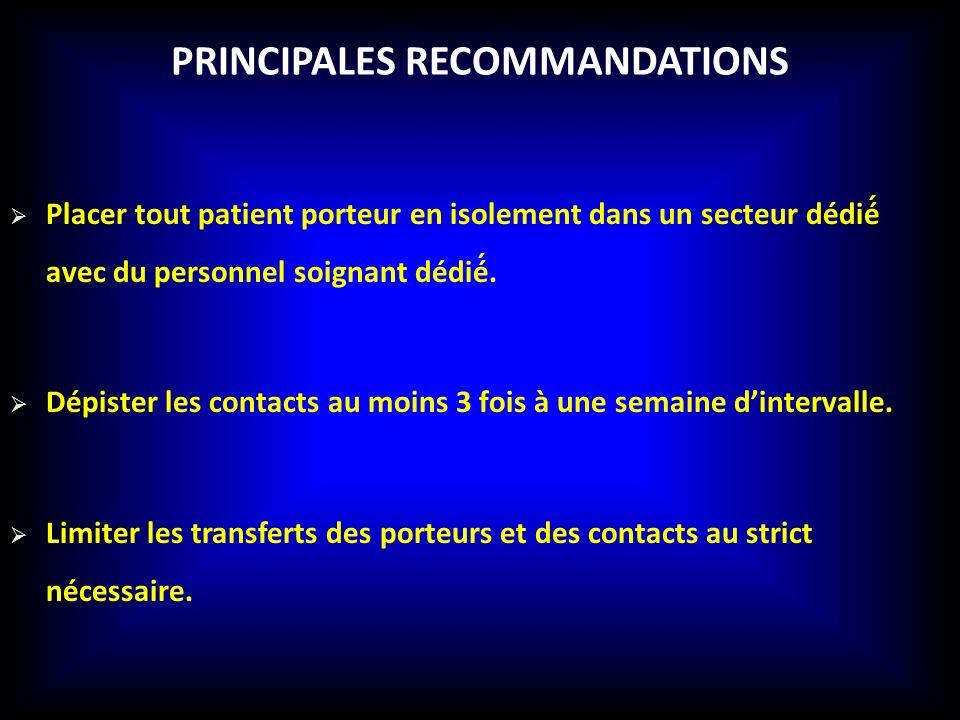 Principales recommandations