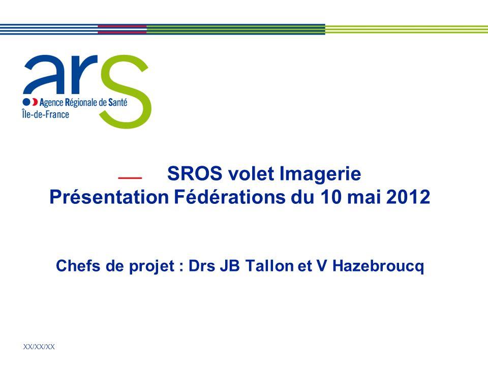 SROS volet Imagerie Présentation Fédérations du 10 mai 2012 Chefs de projet : Drs JB Tallon et V Hazebroucq