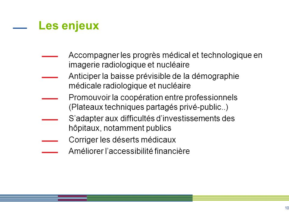 Les enjeux Accompagner les progrès médical et technologique en imagerie radiologique et nucléaire.