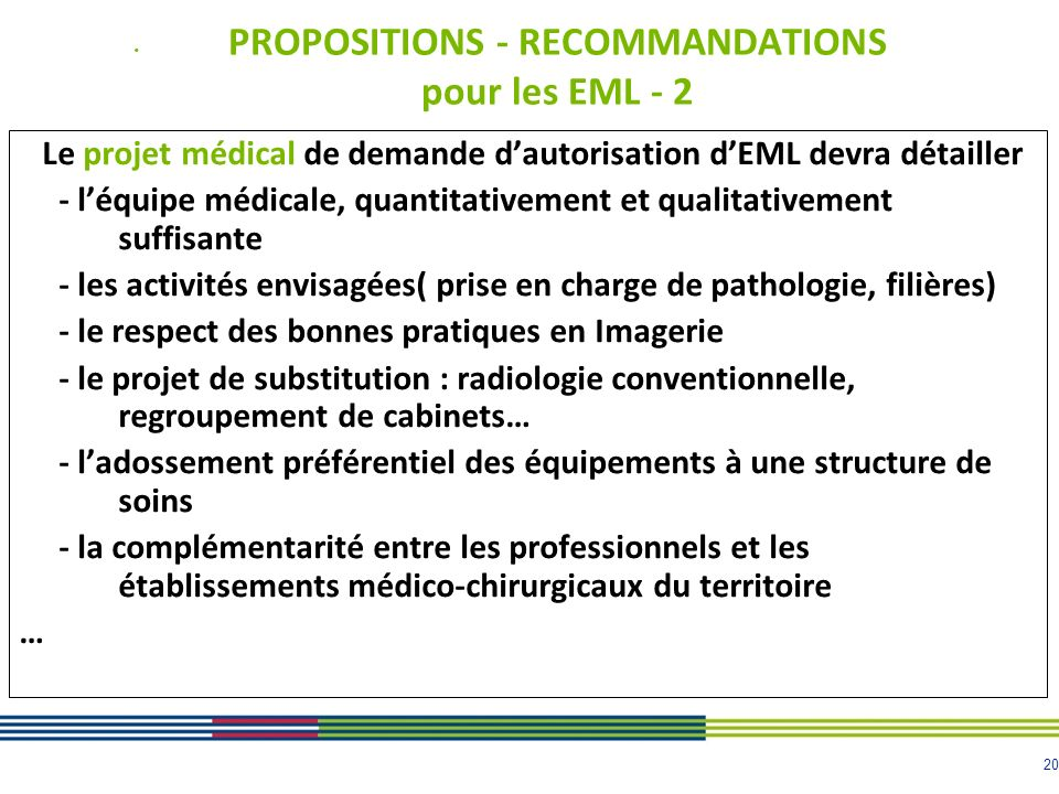 PROPOSITIONS - RECOMMANDATIONS pour les EML - 2