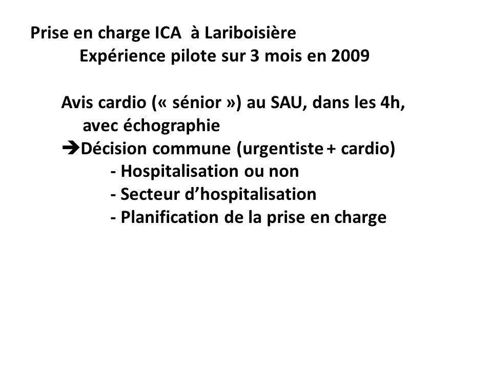 Prise en charge ICA à Lariboisière