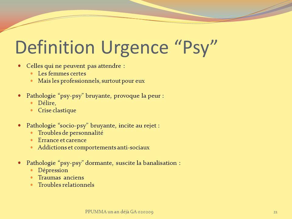 Definition Urgence Psy
