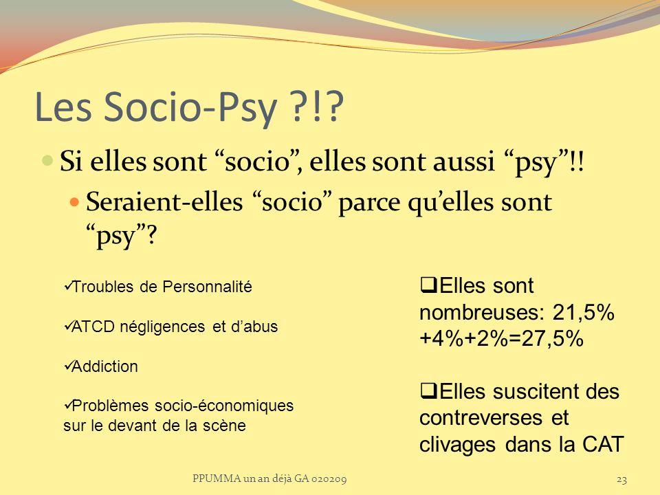 Les Socio-Psy ! Si elles sont socio , elles sont aussi psy !!