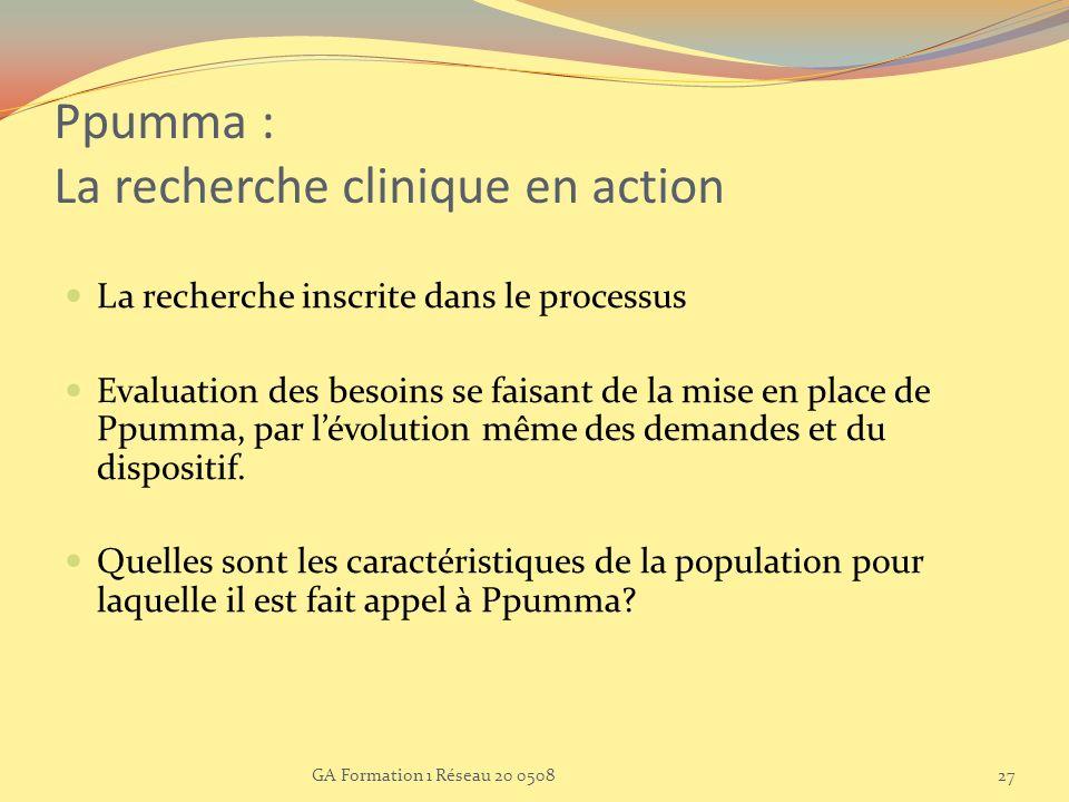 Ppumma : La recherche clinique en action