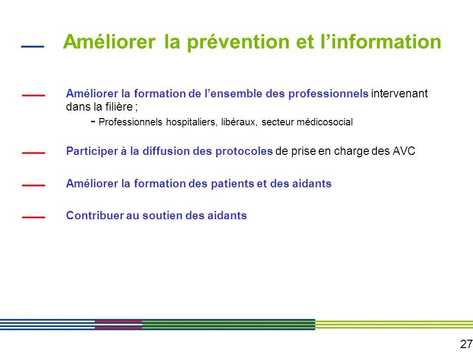 Améliorer la prévention et l'information