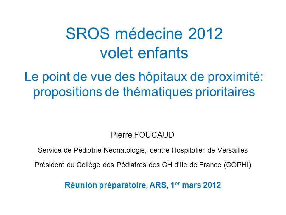 Réunion préparatoire, ARS, 1er mars 2012