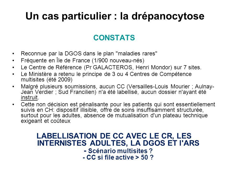 Un cas particulier : la drépanocytose