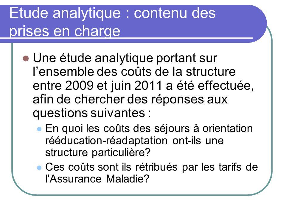 Etude analytique : contenu des prises en charge