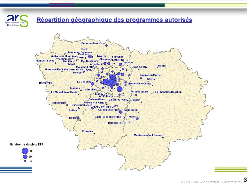 Répartition géographique des programmes autorisés