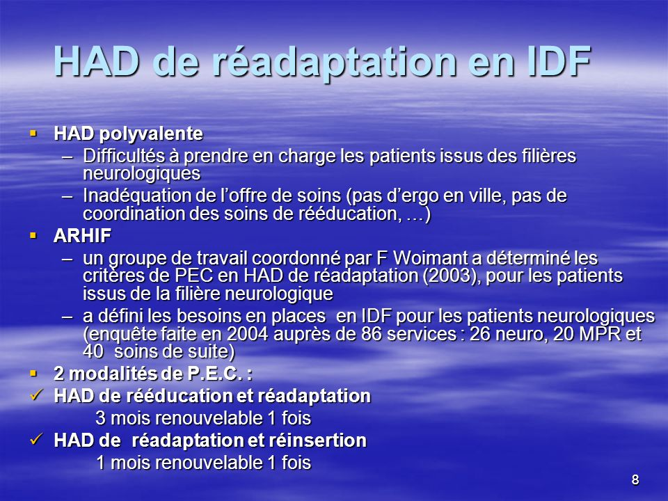 HAD de réadaptation en IDF