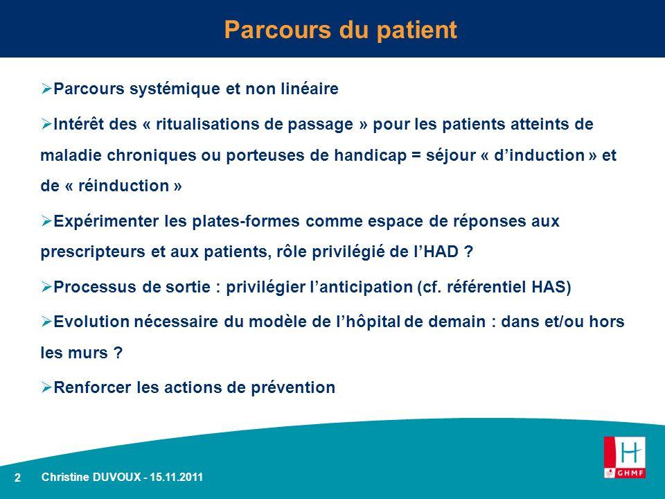 Parcours du patient Parcours systémique et non linéaire