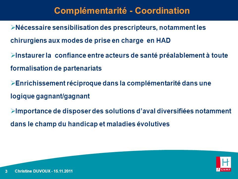 Complémentarité - Coordination