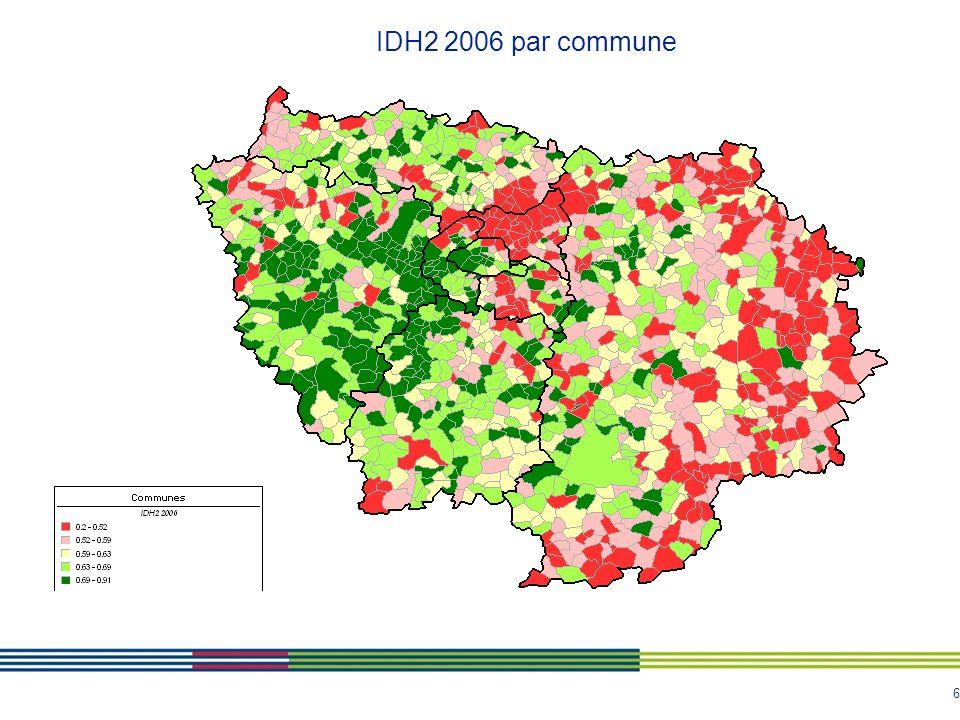 IDH2 2006 par commune