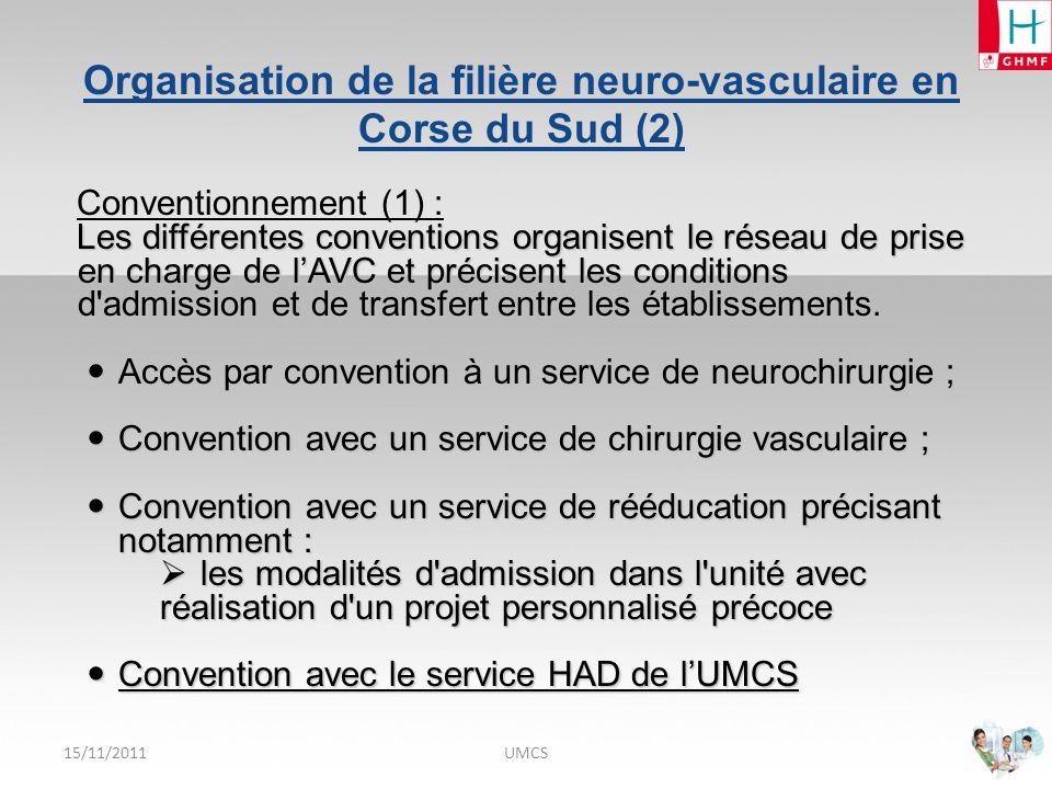 Organisation de la filière neuro-vasculaire en Corse du Sud (2)