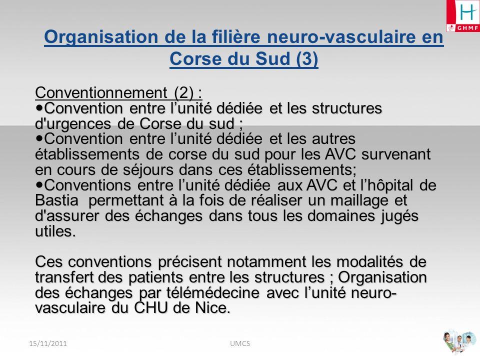 Organisation de la filière neuro-vasculaire en Corse du Sud (3)