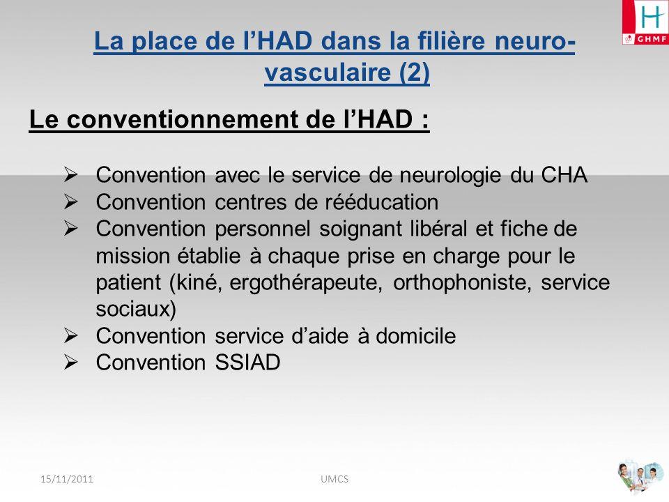 La place de l'HAD dans la filière neuro-vasculaire (2)