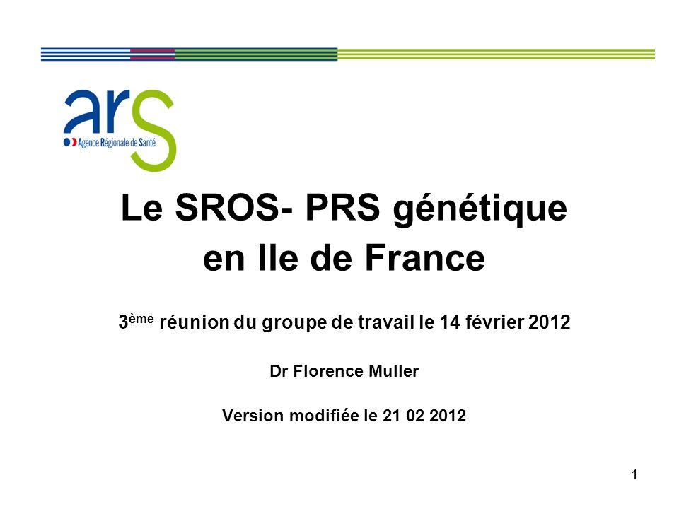 3ème réunion du groupe de travail le 14 février 2012