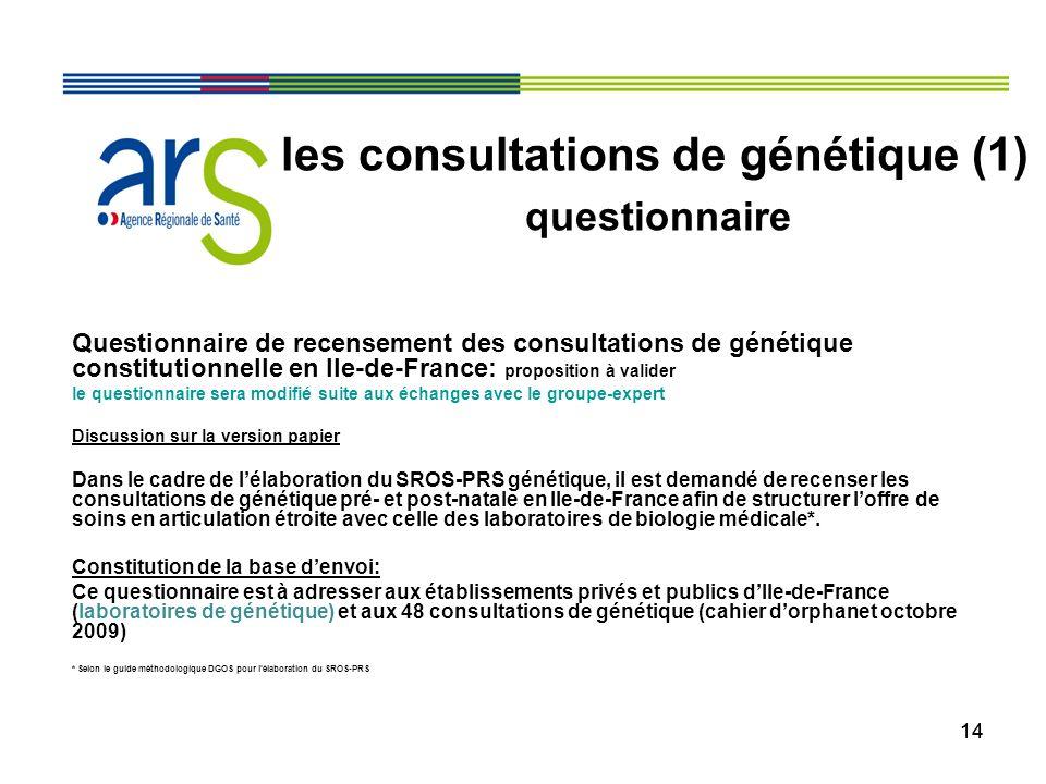 les consultations de génétique (1)