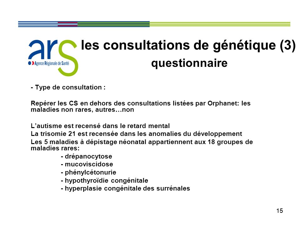 les consultations de génétique (3)