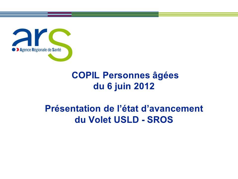 COPIL Personnes âgées du 6 juin 2012 Présentation de l'état d'avancement du Volet USLD - SROS