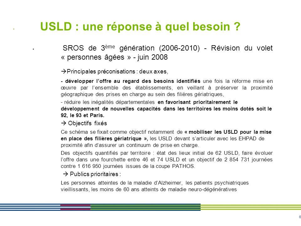 USLD : une réponse à quel besoin