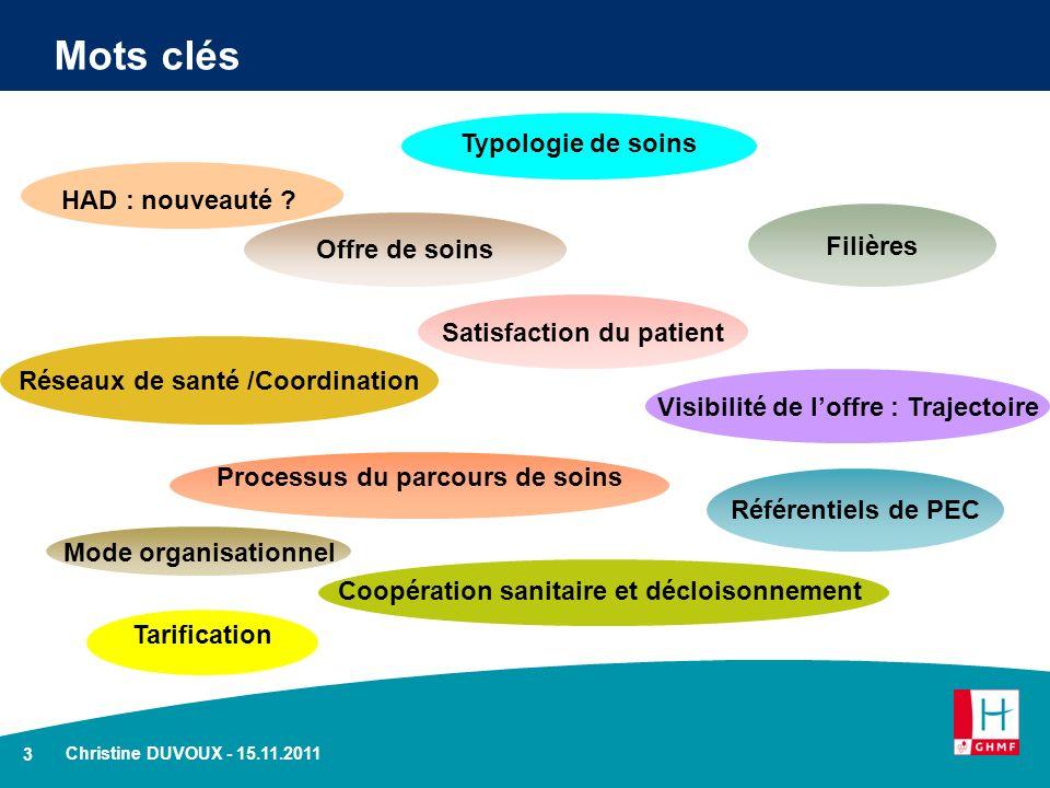 Mots clés Typologie de soins HAD : nouveauté Filières Offre de soins