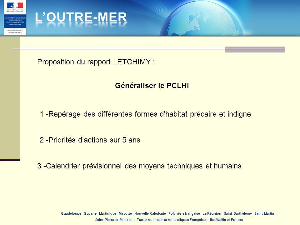 Proposition du rapport LETCHIMY :