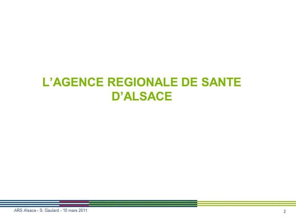 L'AGENCE REGIONALE DE SANTE D'ALSACE